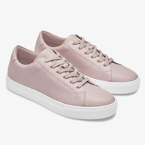 New GREATS The Royale Blush Leather Sneakers